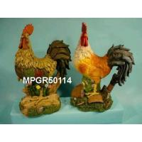 Quality Polyresin Garden Roosters Statue for sale