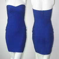 Quality Simple design royal blue ladies strapless short tight evening dress for sale