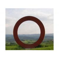 Quality Contemporary Metal Art Corten Steel Ring Sculpture Forging And Casting Technique for sale
