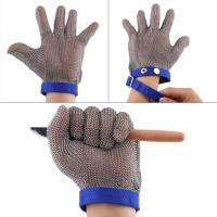 China Chainmail Protective Glove Textile Strap Meat Processing Butchers Hand Protect on sale