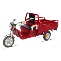 Quality Battery Power Electric Cargo Trike Red 3 Wheel Tricycle 6-8 Hours Charge Time for sale