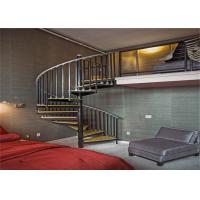 Buy cheap America style high quality solid glass stainless steel spiral staircase from wholesalers