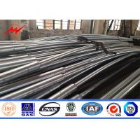 Quality 8.43m Light Road Pole Hot Dip Galvanized Steel Poles For Highway Using for sale