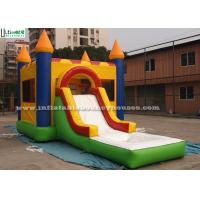 Water Bouncy Castle With Slide And Pool / Basketball Hoop for Backyard