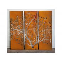 Buy cheap Outdoor Metal Wall Art Sculpture Rusty Corten Steel Screens / Panels from wholesalers