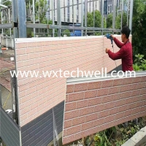 Quality 16x380mm PU Exterior Decoration Metal Siding Sandwich Panel Machine for sale