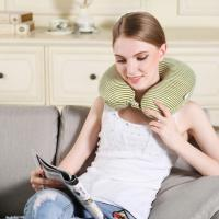 China Air Filling Travel Memory Foam Neck Pillow Comfort With Adjustable Buckle on sale