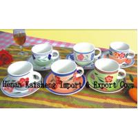 China 12pcs coffee cup and saucer set on sale