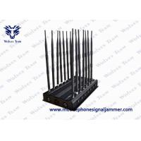 Quality Adjustable 14 Antennas Powerful 3G 4G Phone Blocker WiFi UHF VHF GPS Lojack Remote Control All Bands Signal Jammer for sale