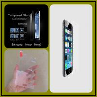 Quality Anti-fingerPrint Electroplate Tempered Glass Screen Guard For Samsung Note 4 for sale