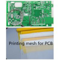 Quality 70-72 Mesh Monofilament Polyester Screen Printing Mesh In PCB Printed Circuit Boards for sale