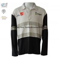 China Knit Cotton Two Tone Fr Flame Retardant Polo Shirts Long Sleeve With Reflector on sale