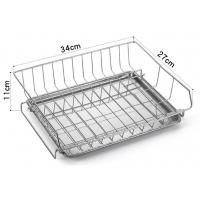 Quality Modern Steel Rust Proof Metal Kitchen Accessories Dish Drying Rack Drain Board for sale