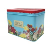Quality Recipe Card Decorative Tin Containers With 0.25mm Thickness Tinplate Material for sale