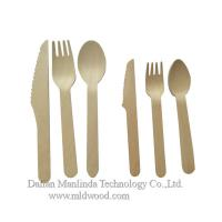 China Wooden cutlery, disposable wooden tableware wooden spoon, compostable wooden spoon, knife, fork, wooden cutlery on sale
