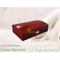 Quality Good Quality Luxury Archered Lid High Gloss Cherry Color Pet Memorial Wooden Keepsake Urn Box with Lock, Small Order for sale