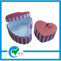 Quality Womens Handmade Heart Shaped Gift Cardboard Jewellery Storage Boxes for sale