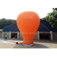 Quality Orange / Red / Blue Ground Custom Inflatable Balloons 6m 420D Oxford Cloth for sale