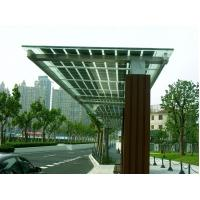 China BIPV Solar Module Customize Doulbe Glasses solar panel Solar Bus Waiting Room wholesale