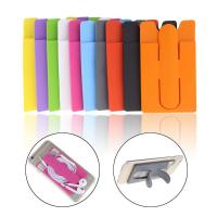 China One Touch Silicone Mobile Phone Stand Slap With Card Silicone Phone Holder on sale