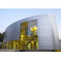 Quality Silver Gold Non Combustible Aluminum Curtain Wall Extrusions Facade Cladding for sale