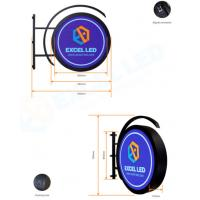 China Double Sided Circle Light Box Sign Logo External Water Resistant CE Approved on sale
