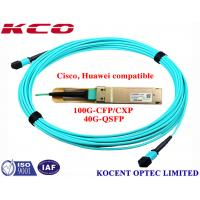 Quality MPO MPO 40G 1m 2m 3m OM3 Fiber Optic Patch Cord For QSFP+-40G-SR4 Cisco Huawei Compatible for sale
