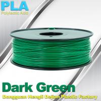 Quality OEM Biodegradable PLA  1.75 / 3.0 mm 3D Printer Filaments ( Dark Green ) for sale