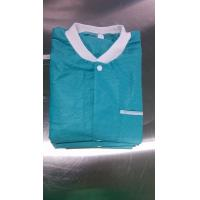 Quality Green Disposable Lab Suits Long Sleeves with button for sale
