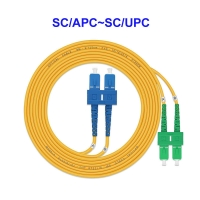 Buy cheap 2 Core Single Mode Fiber Optic Cable SC APC To SC UPC Pigtail For LAN from wholesalers