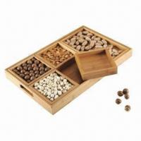 Quality Bamboo Tray with Mineral Oil or Paint Finish, Measures 48.3x31x4.5cm for sale