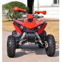 Quality One Seat Electric Start 200CC ATV , Customized Red 4x4 Quad Bike for sale