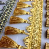 Quality Shiny fluorescent design luxurious tassels fringes for curtain/sofa/pillow decoration for sale