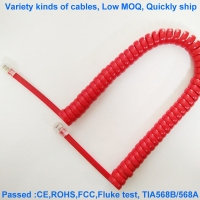 Quality 4 Core 1Gbps 28AWG Copper Telephone Cable Oxygen Free 25cm Length for sale
