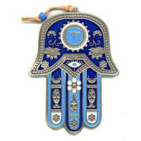 Quality Blue Enamel Hamsa Hand Jewelry Islamic Hand Pendant Without Stone for sale