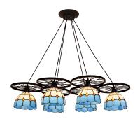 Quality Modern tiffany style  wheel chandelier lighting Fixtures (WH-TF-12) for sale