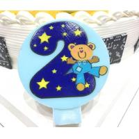 Quality Cute Round Shape Number Printable Birthday Candles For Cake Decorating No Smoking for sale