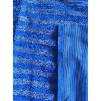 Quality 160cm Width Warp Knitting Blue Eight Grid Microfiber Cleaning Cloth SGS for sale