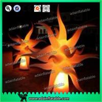 Quality Event Decoration Lighting Inflatable Flame Model,Inflatable Pillar With LED Light for sale