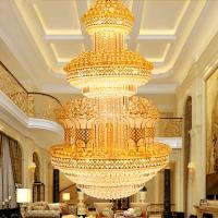 Quality Indian crystal hanging lamp large hotel diy crystal chandelier (WH-CN-06) for sale