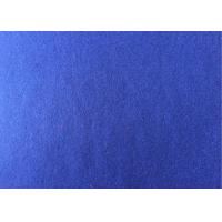 Buy 60wool40ployster sapphire blue  Color plain  Melton Wool Fabric for women at wholesale prices