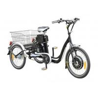 "Quality 22""  Electric Adult Tricycles Black 3 Wheel Electric Trike With Rear Luggage Carrier for sale"