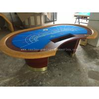 China 84'' Redwood MDF Casino Baccarat Table Round Poker Table With Base wholesale