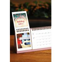 Quality Photo Embossing Custom Calendar Printing  Matte Varnish for sale