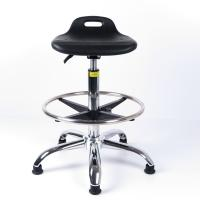 Quality Hydraulic Height Adjustable Swivel ESD Cleanroom Chairs With Anti-static Polyurethane Seat for sale