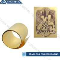 Quality High Precision C26000 C26800 C27000 Brass Metal Sheets , Width 1.0~650mm for sale