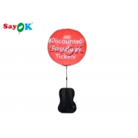 China 0.8m Inflatable Backpack Balloon LED Walking Advertising Ball For Advertising on sale