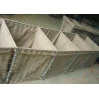 Quality 3mm Military Hesco Barriers / Hesco Bastion Barrier Gabion Mesh Box For Military for sale