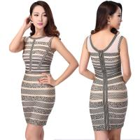 Quality Latest fashion design sexy ladies floral printed short bodycon bandage dress for sale