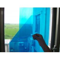 Quality Temporary Blue Adhesive PE Protective Film For Glass Windows High Smooth Surface for sale